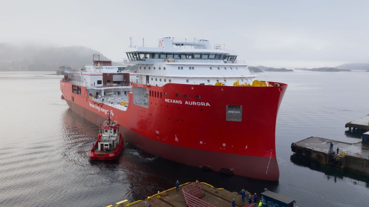 Nexans Aurora has a 'carousel-in-a-carousel' designed by MAATS that will allow it to carry more cable without significantly increasing the vessel's size or cost