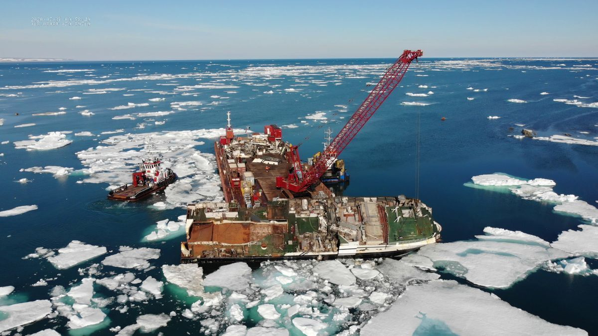 Smit Salvage removed the wreck of Northguider fishing vessel in 2020 (source: Smit)