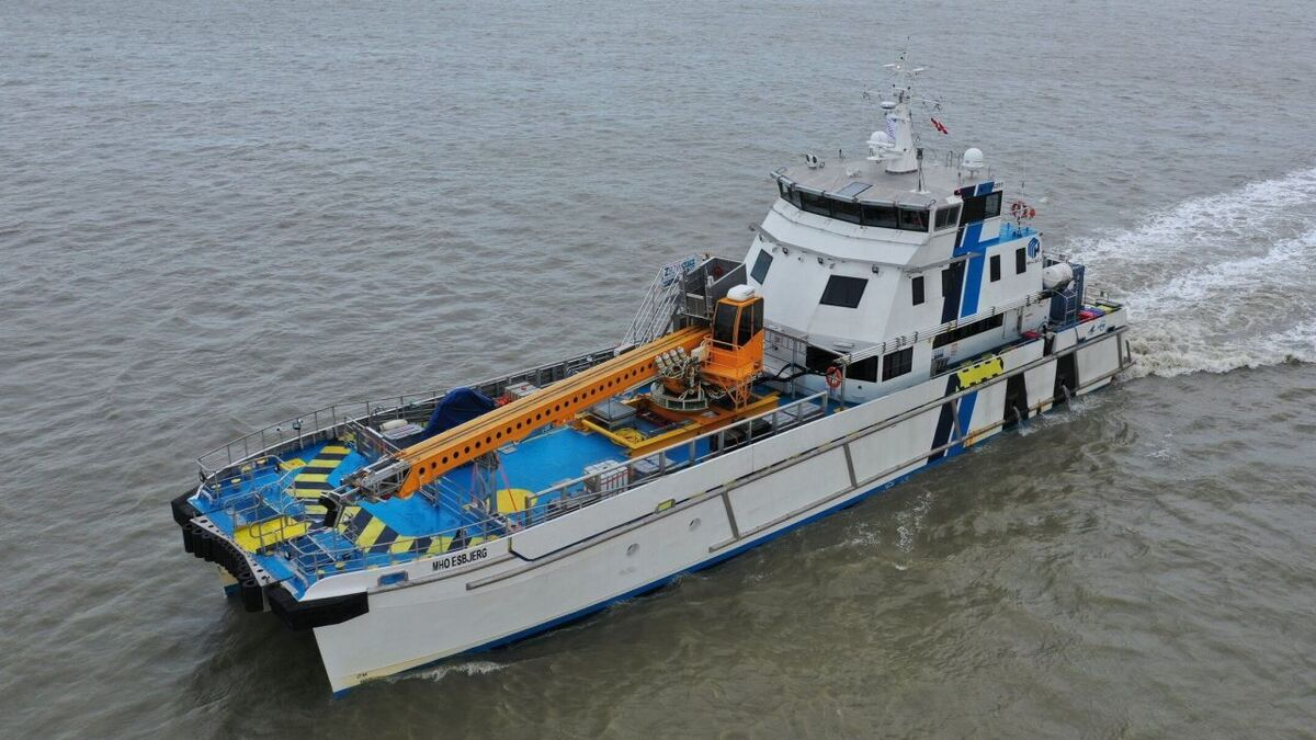Z-bridge's innovative bring-to-work system was tested on another MHO-Co vessel, MHO Esbjerg