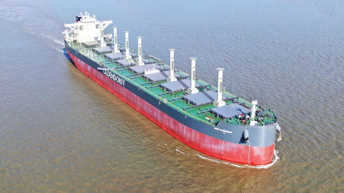 Oldendorff JDP to develop wind propulsion for bulk carriers