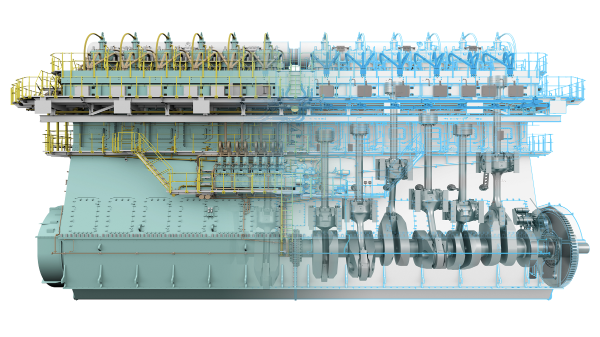 WinGD 12X92DF - officially the world's most powerful dual-fuel engine (Image: WinGD)