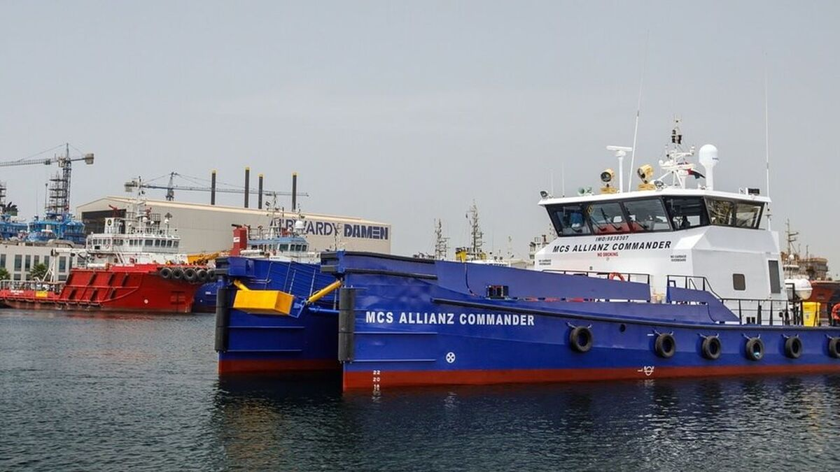 Albwardy Damen builds fast crew supply vessels for Allianz (source: Damen)