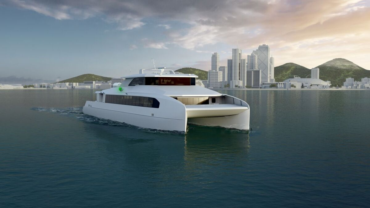 Busan Port Authority all electric ferry design Haemin Heavy Industries (source: ABB)