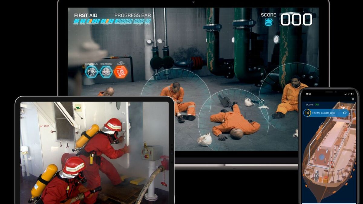 Ocean learning platform delivers enclosed space training content on different devices (source: OTG)