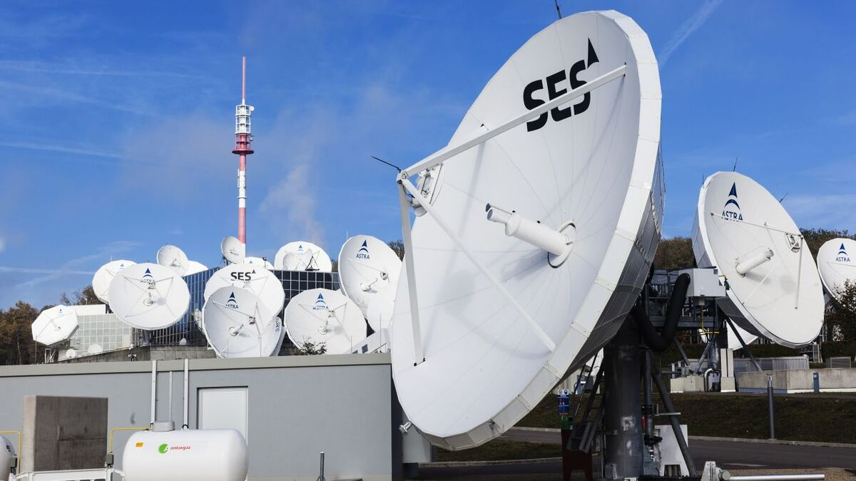 SES's ground network of antennas helps deliver VSAT services to ships (source: SES)