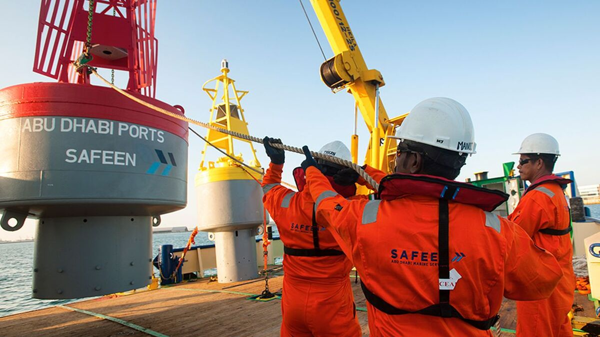 Safeen marine services in Abu Dhabi Ports (source: Safeen)