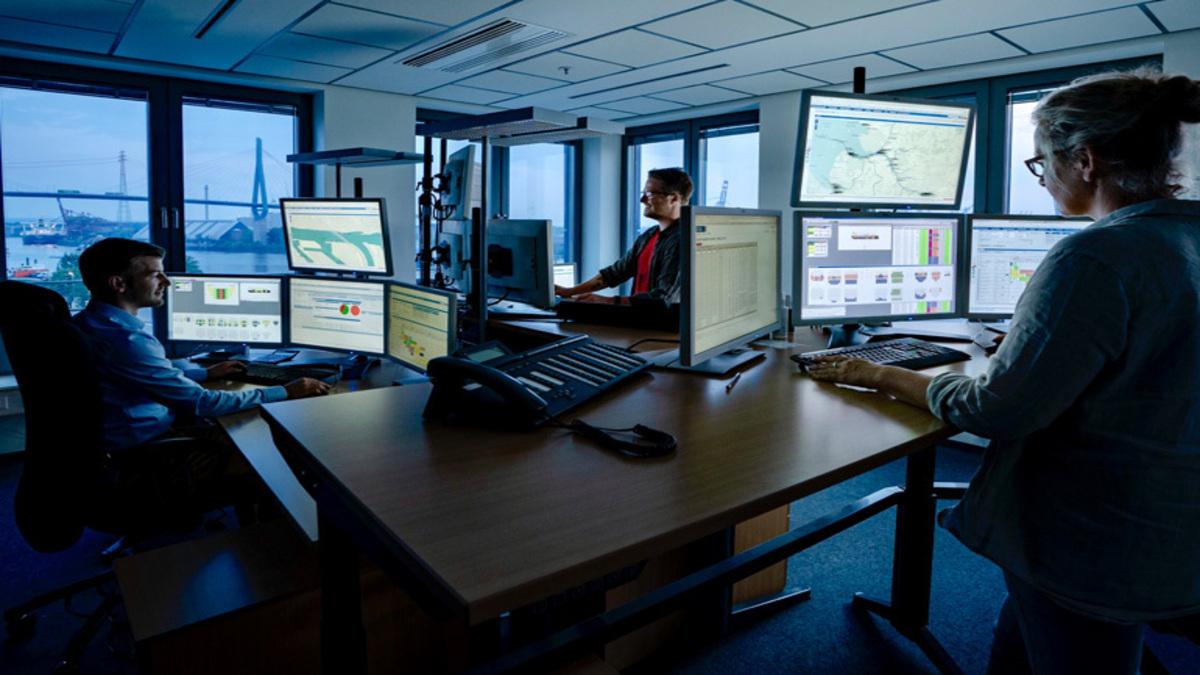 The Hamburg Vessel Coordination Centre (HVCC) in Germany facilitates data exchange between ports through a collaborative digital platform (Image: HVCC)