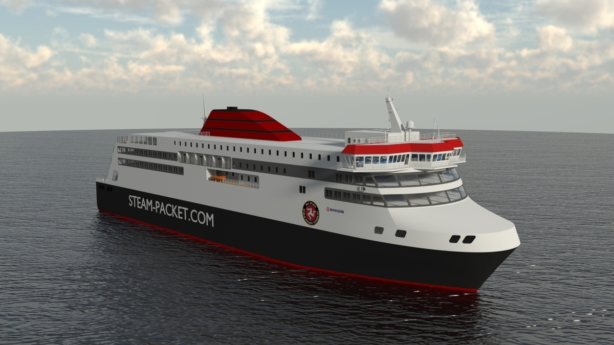 A rendering of Manxman: the new ferry will feature Wärtsilä's W31 engine (© IOMSP & Houlder)