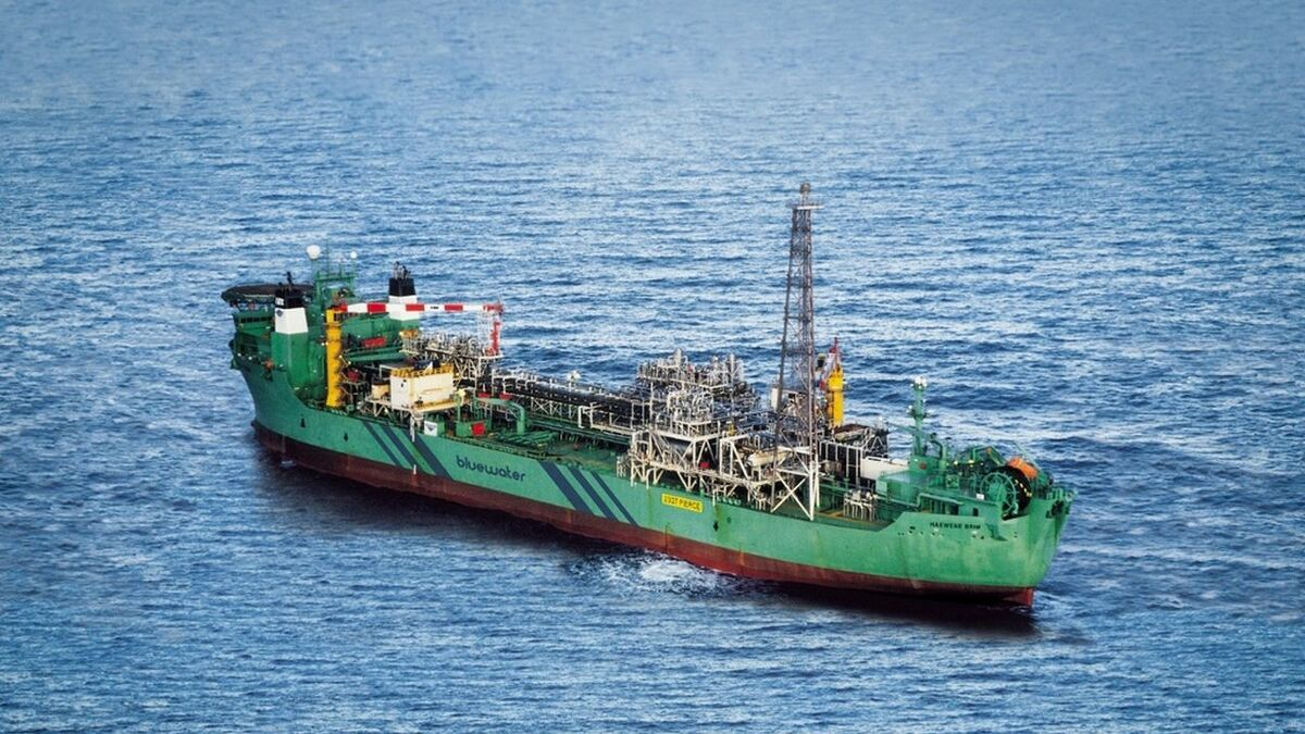 Bluewater Haewene Brim FPSO operates on Shell's Pierce field, UK (source: Bluewater)