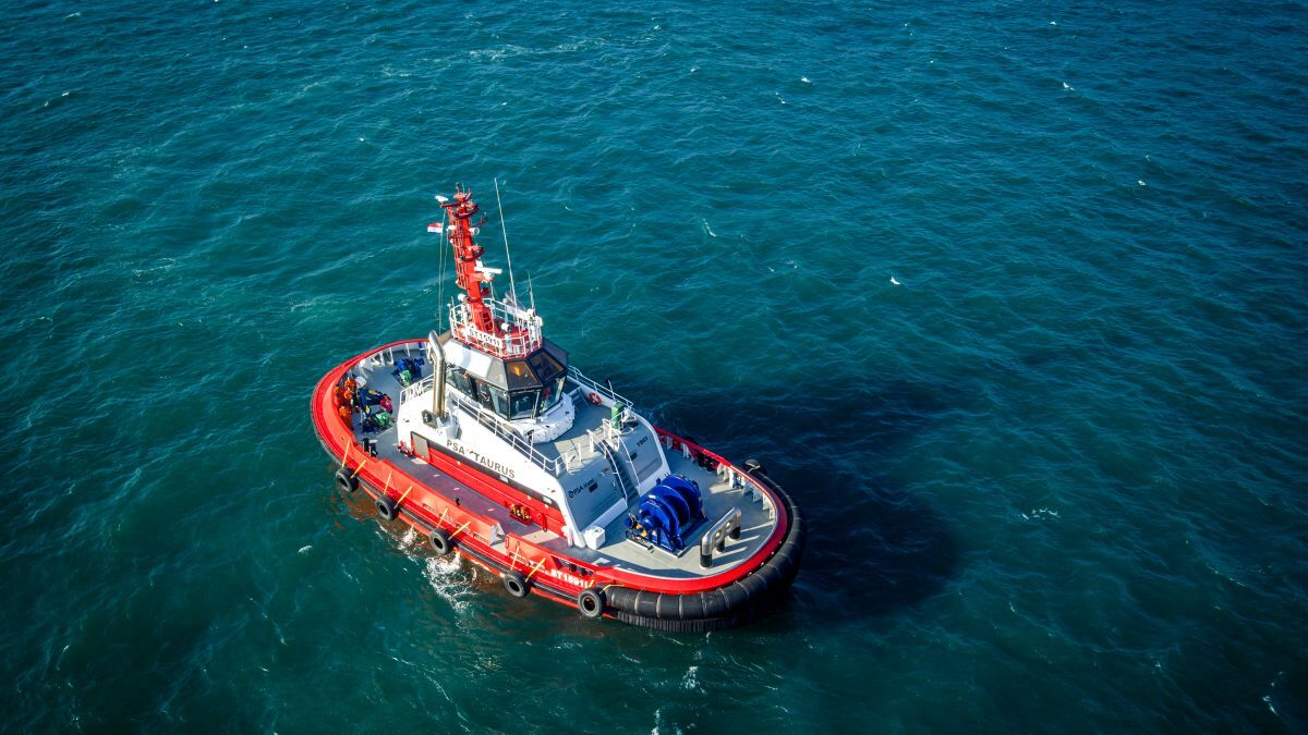 Choey Lee built tug PSA Polaris for PSA Marine in 2019 (source: Cheoy Lee)