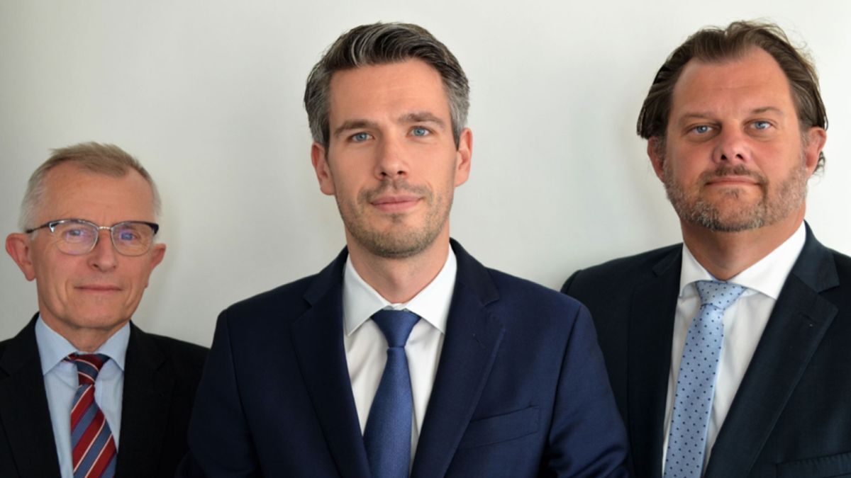 CST management team, Hylke Boerstra, Christian Krämer, Oliver Hennes (source: CST)