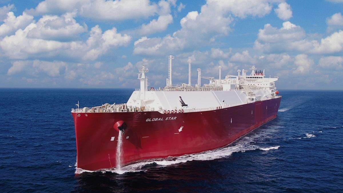 Nakilat's latest newbuild LNG carrier, Global Star, is equipped with ME-GI propulsion (source: Nakilat)