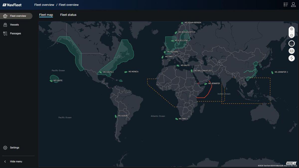 Owners can monitor vessel voyages using NavFleet (source: NAVTOR)
