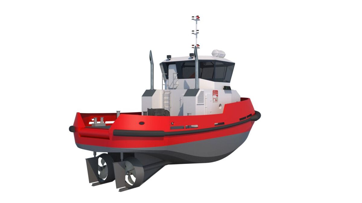 Piriou is building a 16.5-m tug with 15 tonnes of bollard pull to this design (source: Piriou)