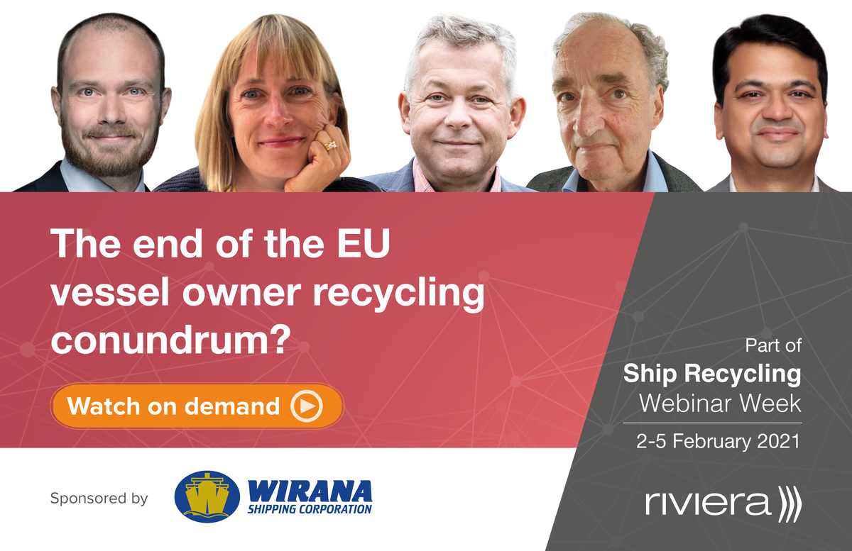 The ship recycling panel 2 Feb 2021 (source: Riviera)