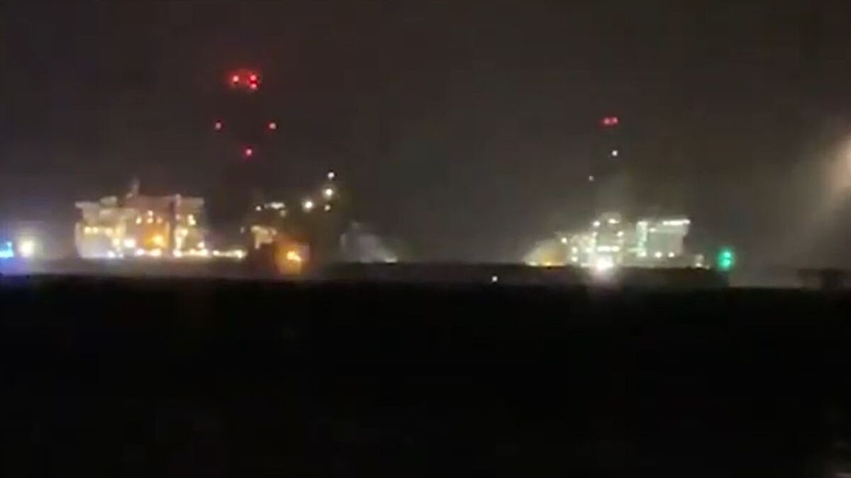 Two Valaris drillships, one adrift, at Hunterston Terminal in Scotland (source: YouTube)