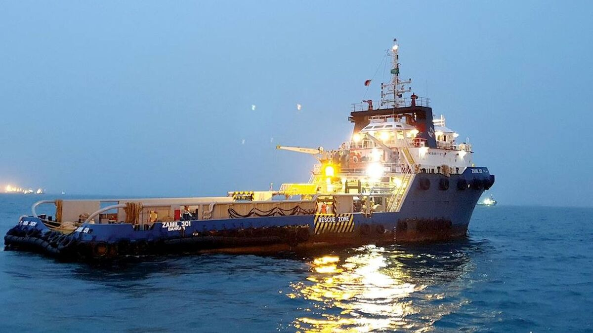 Anchor handler Zamil 301 was the pilot for Aramco and Ascenz IoT (source: Aramco)