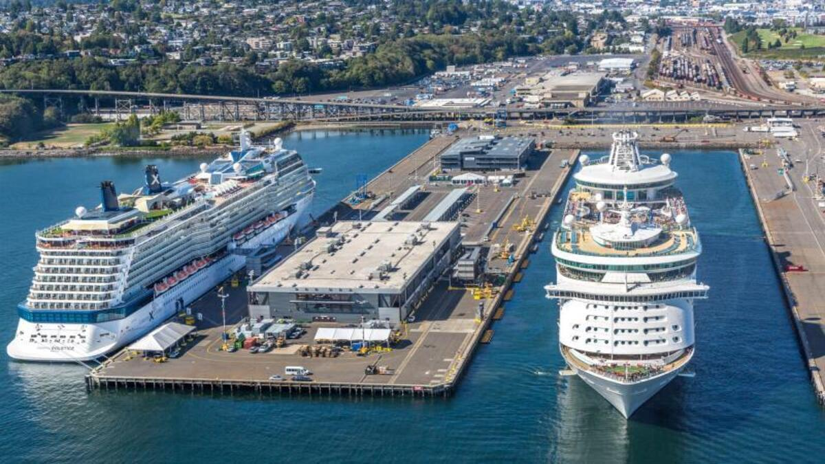 Seattle's tourism economy is expected to take a hit from Canada's suspension of cruise shipping (Image: Port of Seattle)