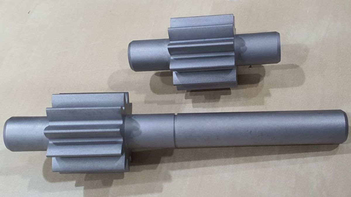 The future of spare parts: a gear set with shaft 3D-printed at sea (source: ABS)