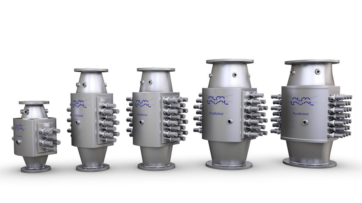 Alfa Laval's PureBallast 3 ballast water treatment system covers a range of flow rates required for container ships (image: Alfa Laval)