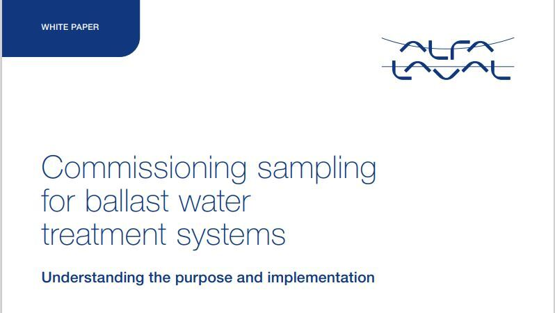 Commissioning sampling for ballast water treatment systems