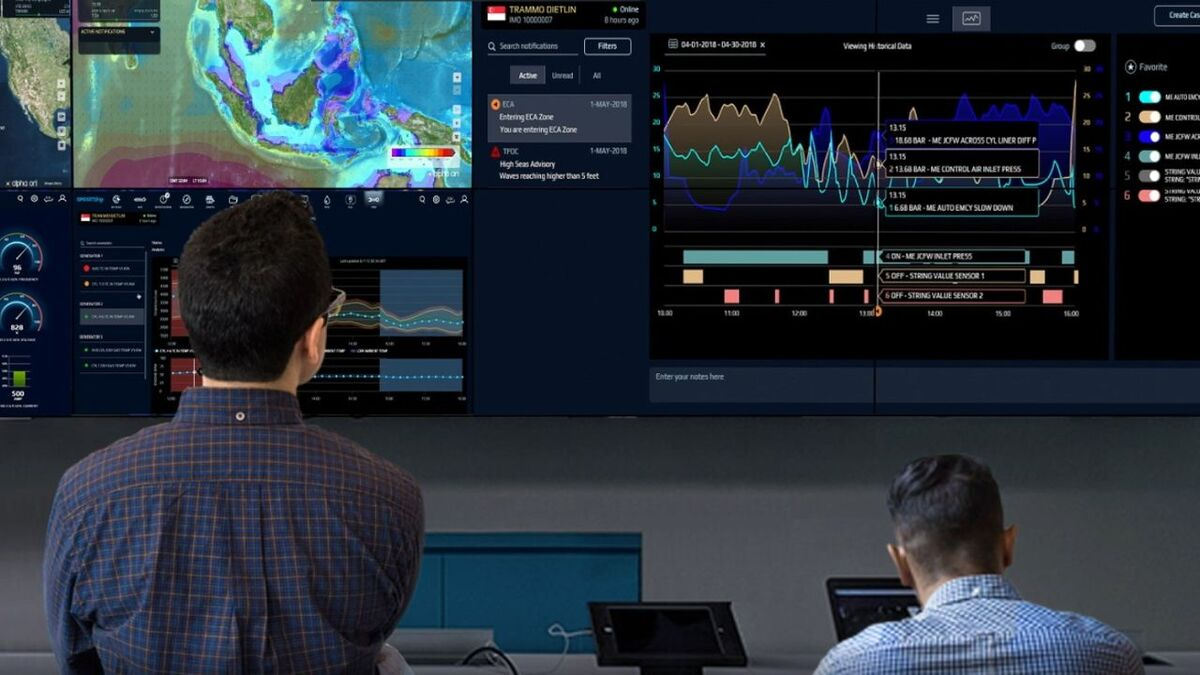 Fleet managers can monitor vessel performance using AOT SmartShip (source: AOT)