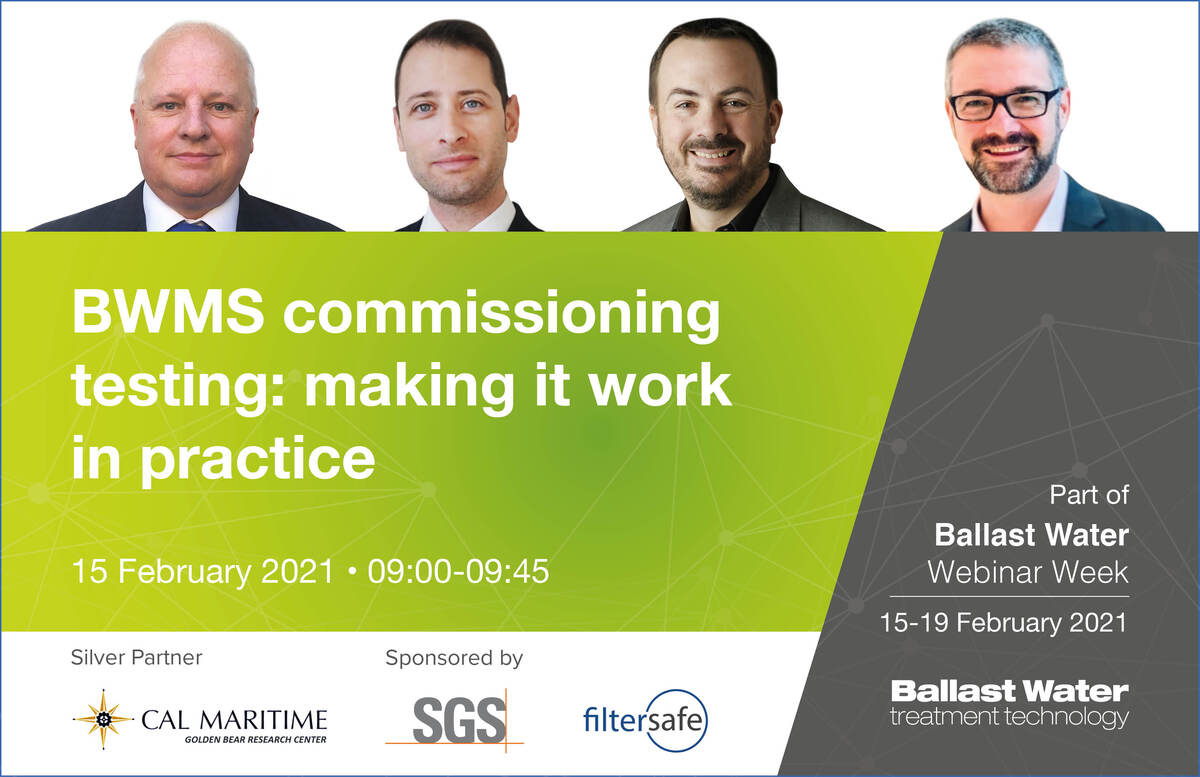 BWMS commissioning testing: making it work in practice panel