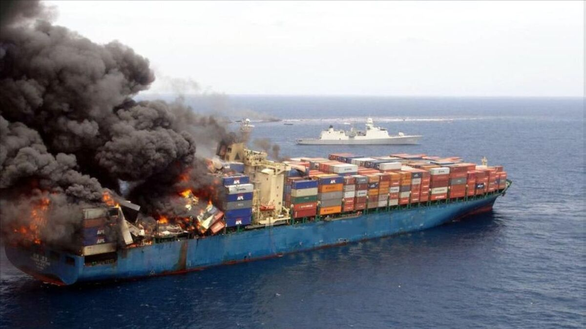 Container ship fires are mainly caused by cargo misdeclaration (source: Gard)