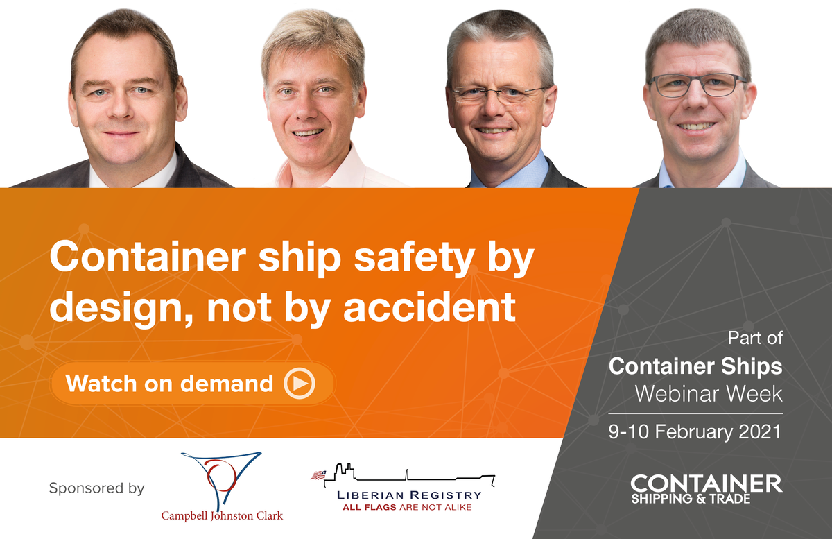 Container ship safety and design webinar panel
