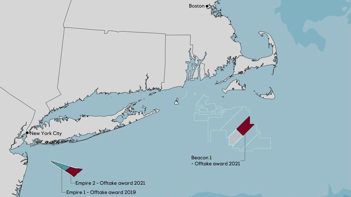 Empire Wind 2 and Beacon Wind 1 will provide New York with generating capacity, in addition to offshore wind capacity from Empire Wind 1