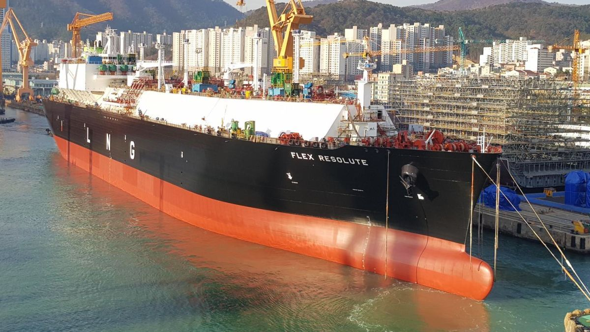 Flex Resolute, a ME-GI propelled LNG carrier, was delivered in September to Flex LNG (source: Flex LNG)