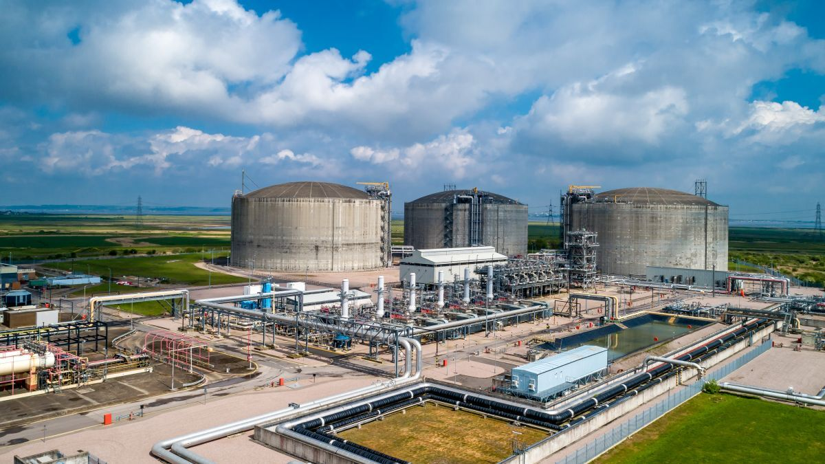 National Grid's Grain LNG terminal, the largest import facility in Europe (source: National Grid)