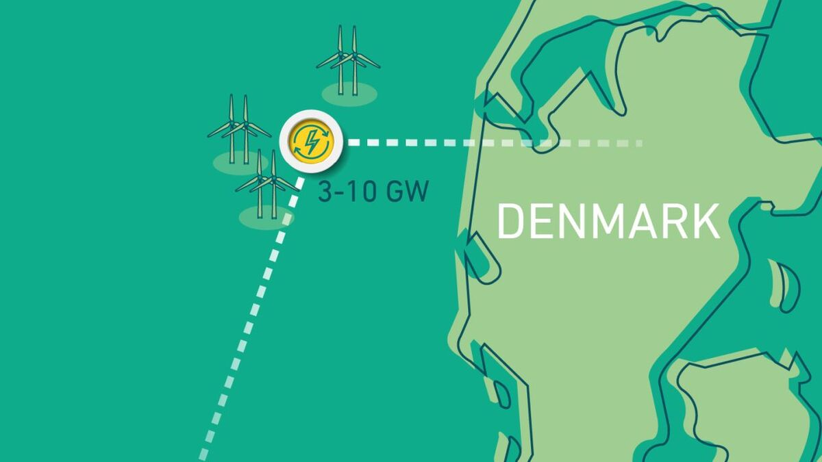 Denmark's energy island in the North Sea could eventually transmit power to Belgium, Germany and the Netherlands