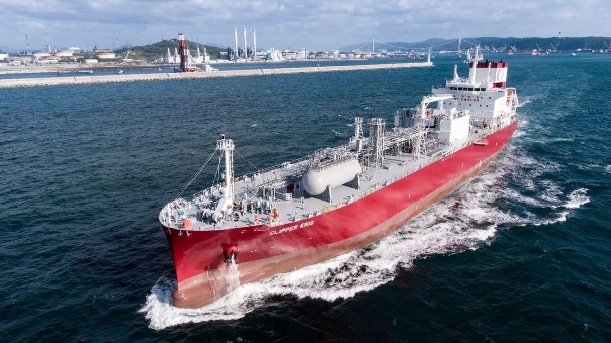 Solvang Clipper Eris semi-refrigerated ethylene carrier (source: Wartsila)