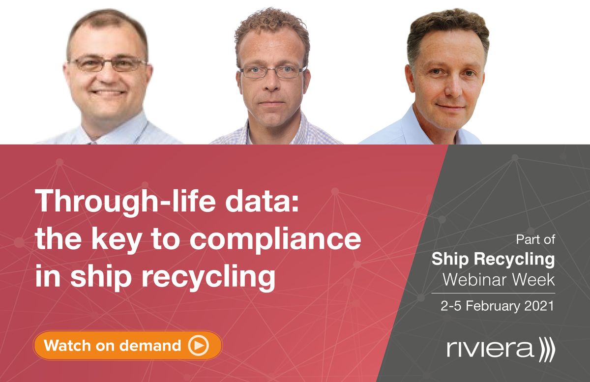 Through-life data the key to compliance in ship recycling webinar panel