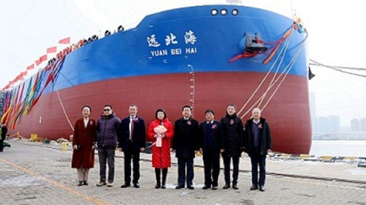 Yuan Bei Hai: shorter construction period than sister Suezmax tankers (source: Dalian Shipbuilding)
