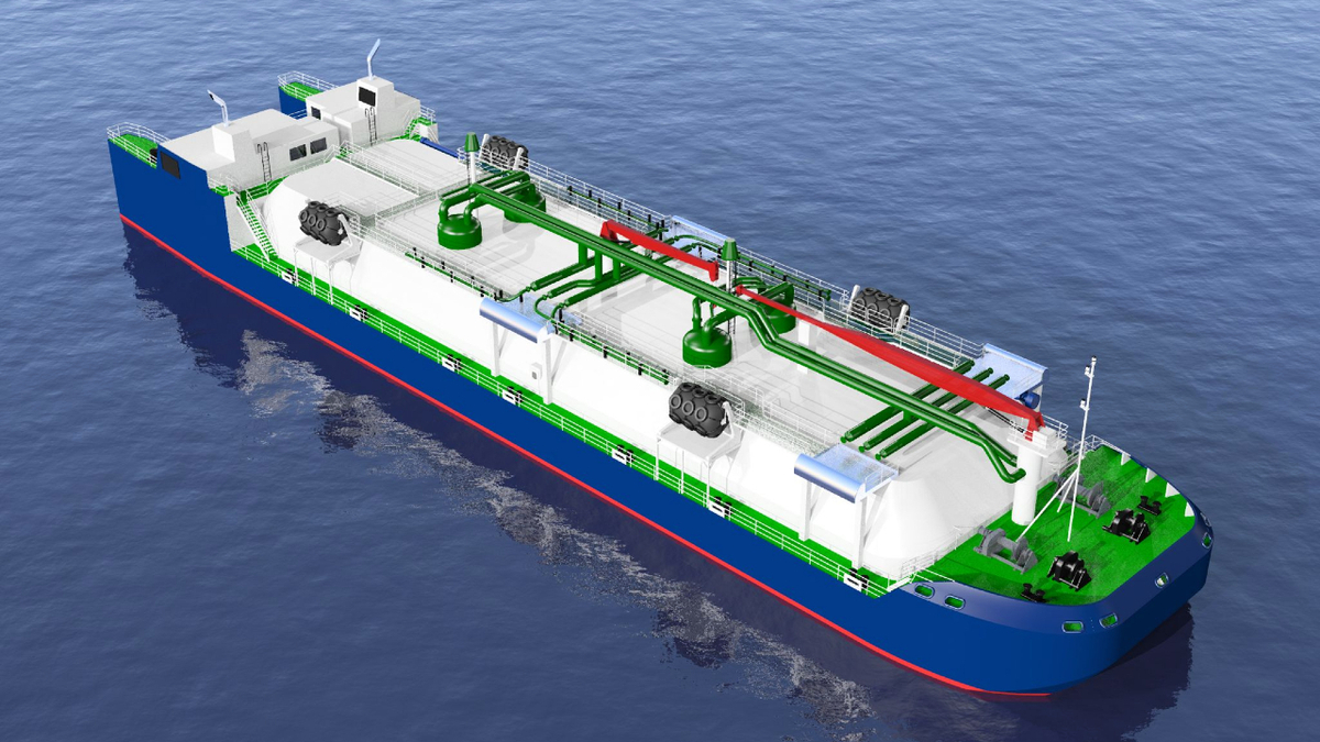 Based on IMO Type C tanks, Capilano Maritime Design's LNG ATB will have a capacity of 4,000 m3 (source: Capilano Maritime Design)