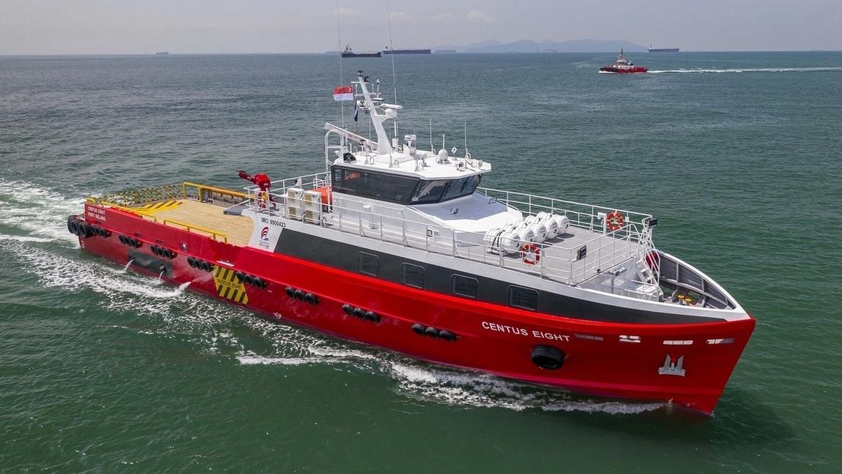 Centus Eight - the new fast crew boat built by Strategic Marine (Image: Strategic Marine)