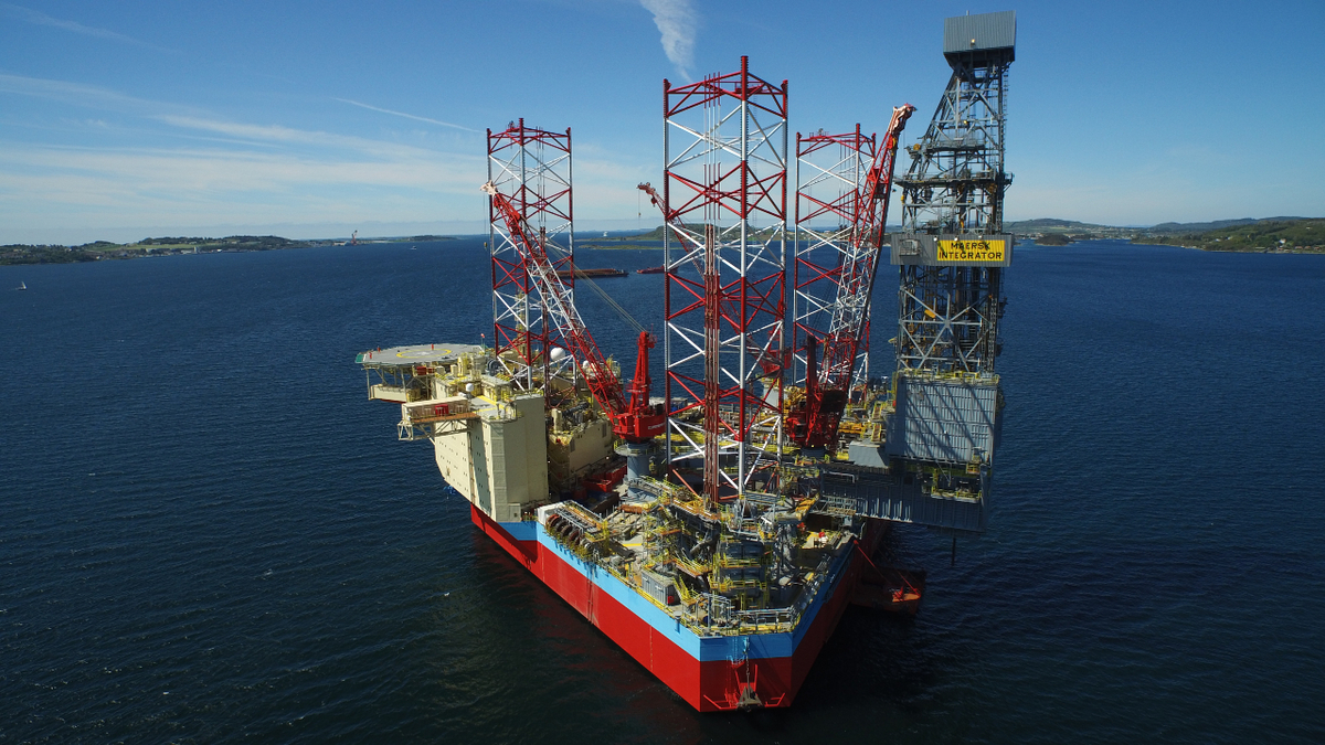 Maersk Drilling's Maersk Integrator is being converted to a hybrid, low-emissions rig for its work in the North Sea (source: Maersk Drilling)