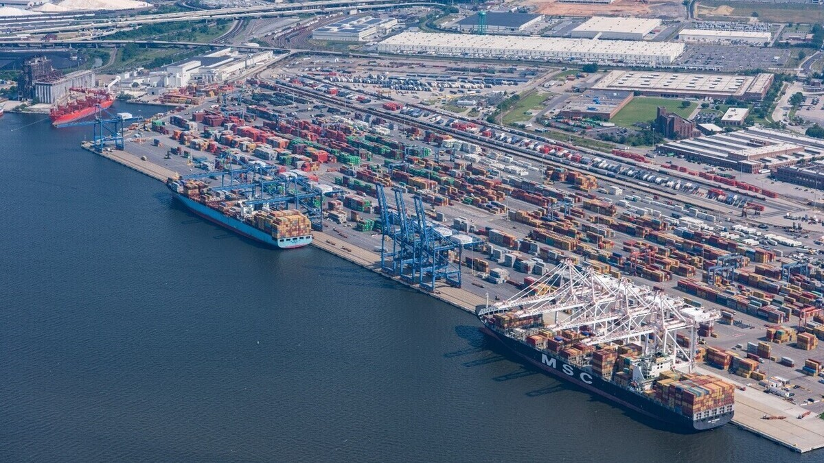 The Port of Baltimore set a new record for container moves this month (Image: Maryland Port Administration)