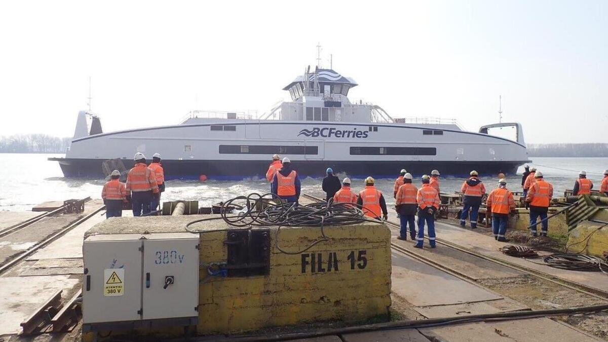 BC Ferries launches fifth hybrid-electric Island-class ferry