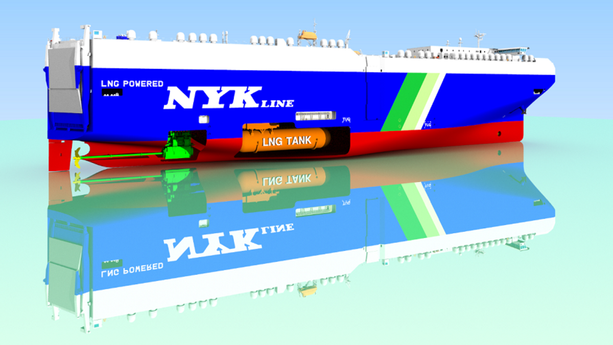 China Merchants Jinling Shipyard will deliver four LNG-powered PCTCs to NYK Line (Image: NYK Line)