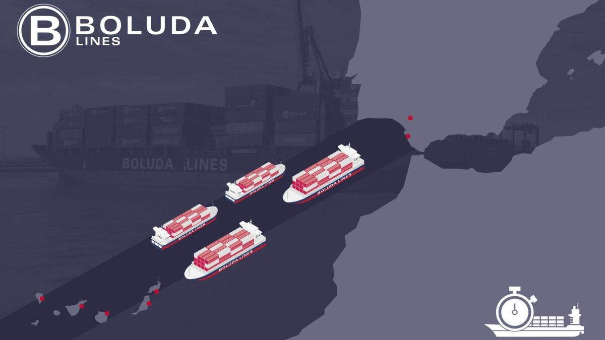 Daily Canarias container ship line links Spain and Canary Islands (source: Boluda)