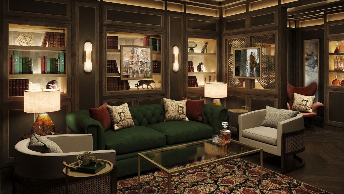 Have a cognac and cigar in the Connoisseur Club (source: Crystal)