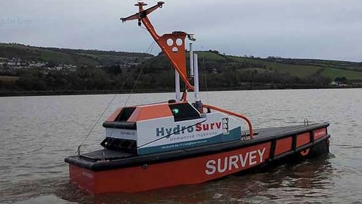 HydroSurv's REAV-40 USV will be fitted with instruments from Sonardyne to provide an end-to-end seabed data-to-shore service