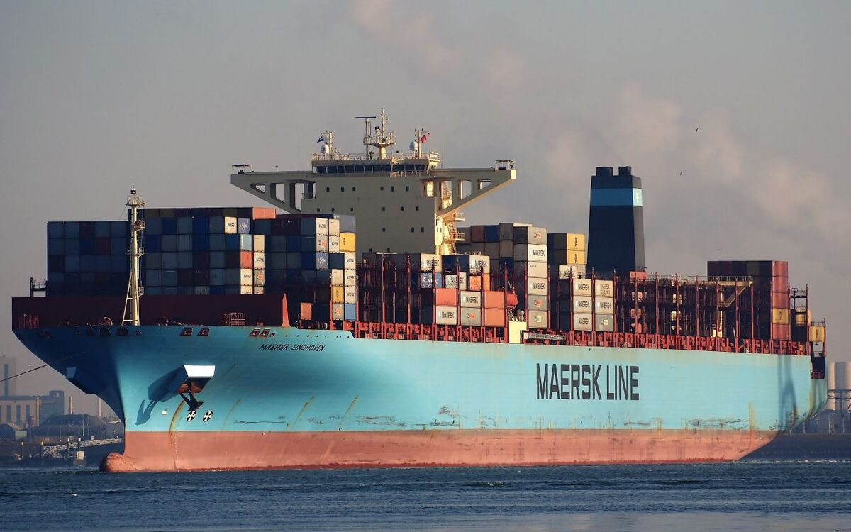 Maersk Eindhoven, built in 2010 with 13,100 TEU, lost containers off Japan (source: Maersk)