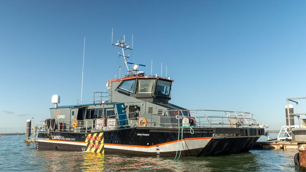 Pioneering crew transfer vessel to start work soon with Ørsted