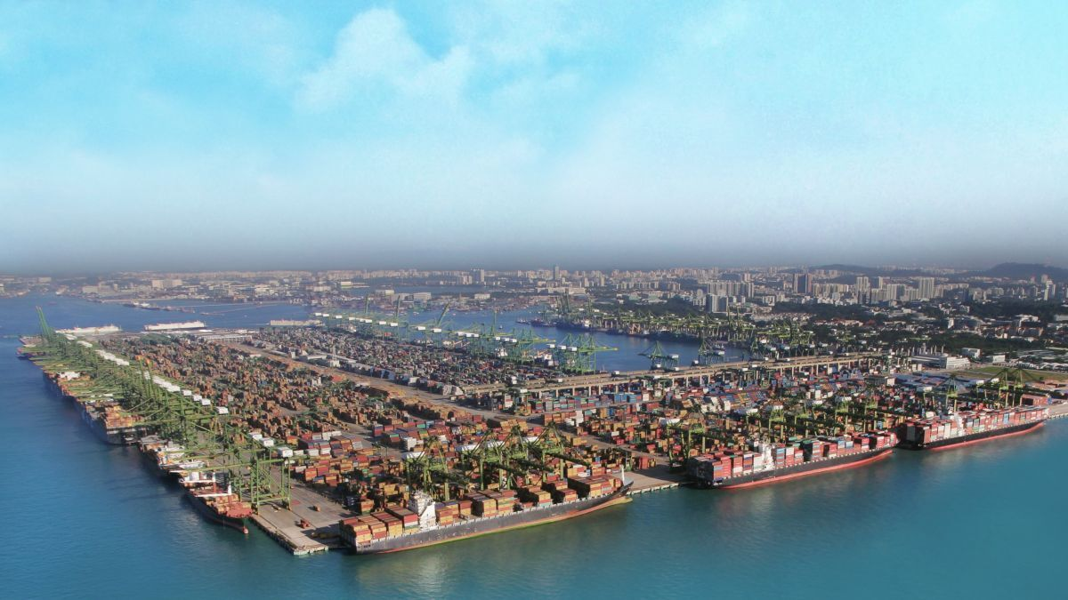 The Port of Singapore reported container throughput of 3.16M TEU in January