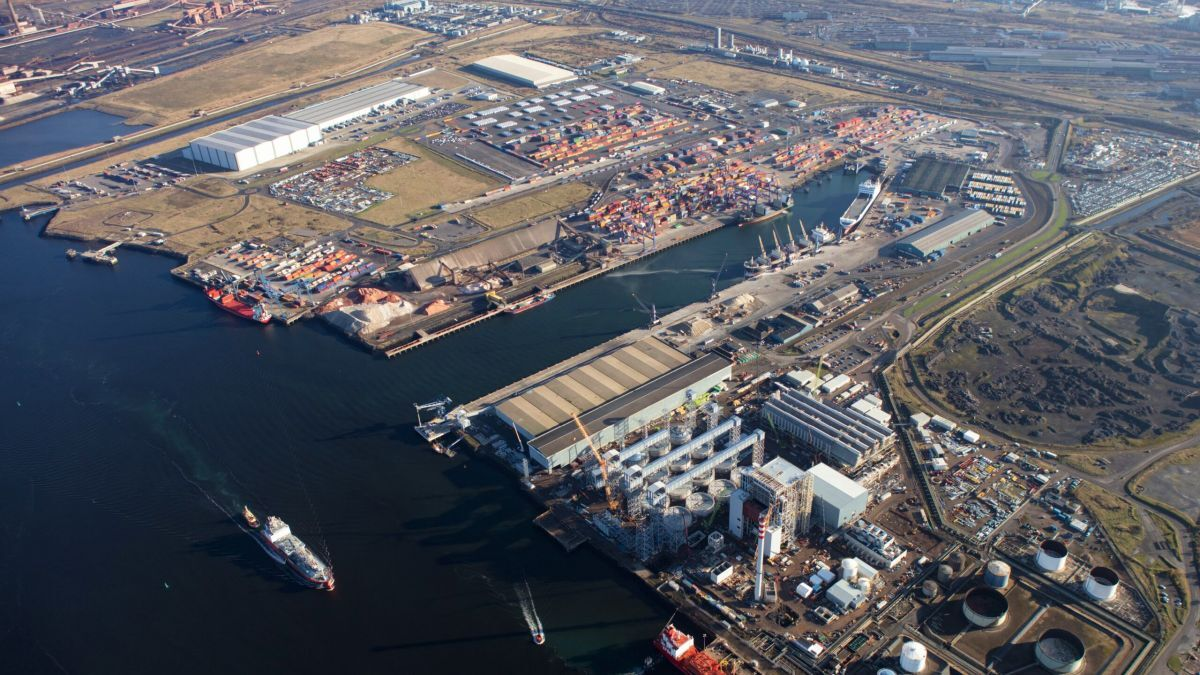 Teesport is looking to become 'smarter' through a partnership with the Port of Rotterdam (source: Teesport)