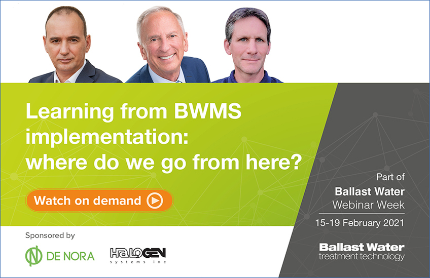 The panel for Learning from BWMS implementation - where do we go from here webinar